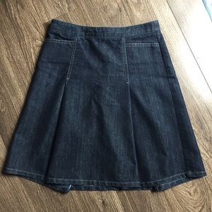 Ann Taylor Petite Flared Denim Skirt / Size 2P